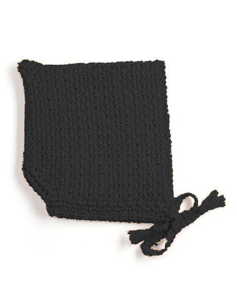 Béguin pointu crochet noir