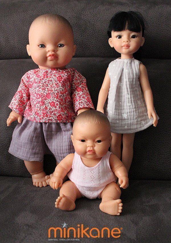 Poupées asiatiques habillées et vendues par Minikane