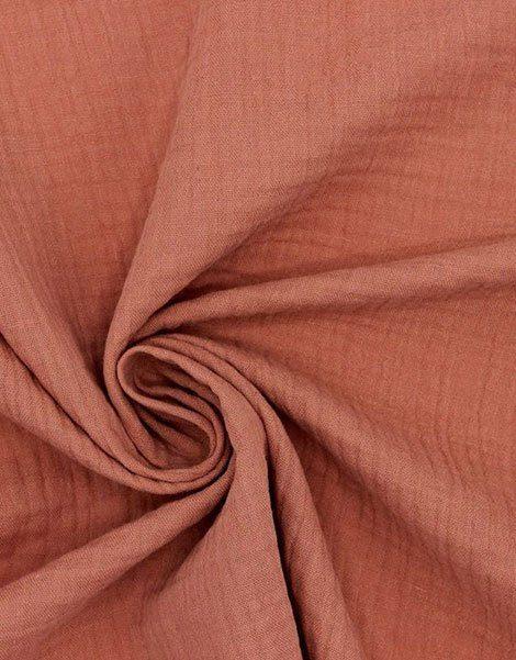 Berceau à bascule Gaston – Matelas coton double gaze marsala