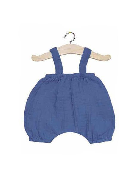 Bloomer Kim en coton double gaze bleu