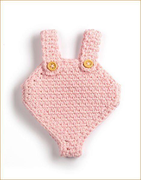 barboteuse en crochet pour poupée poupon Minikane
