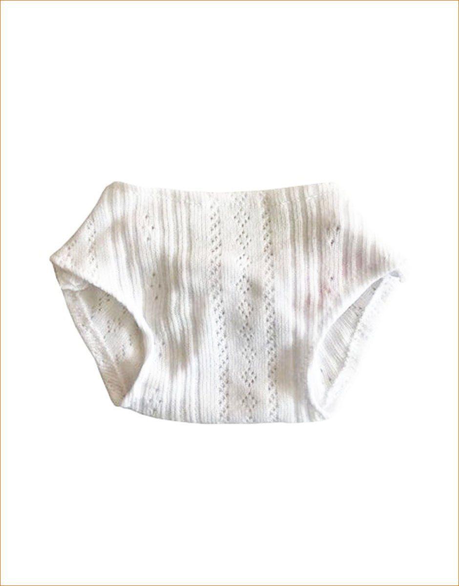 culotte en coton blanc pour poupee et poupon