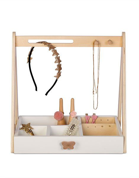 presentoir à bijoux en bois pour les enfants