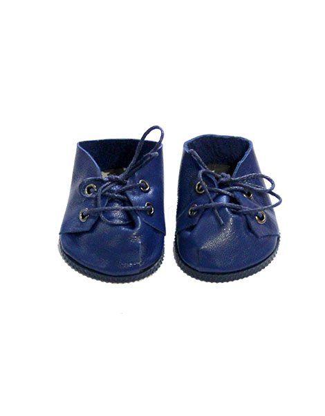 Chaussures à lacets bleu