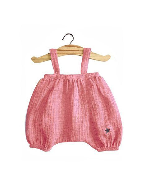 Bloomer Kim en coton double gaze rose