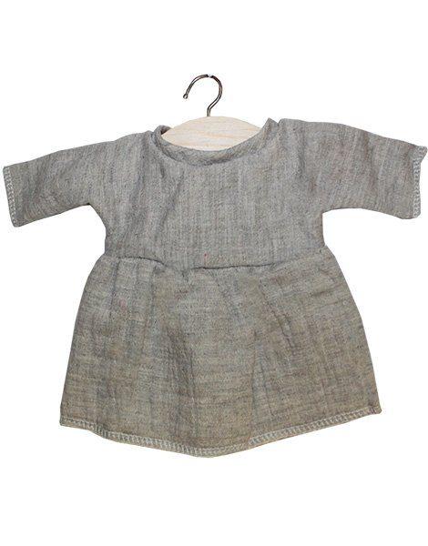 Robe Faustine coton double gaze gris chiné