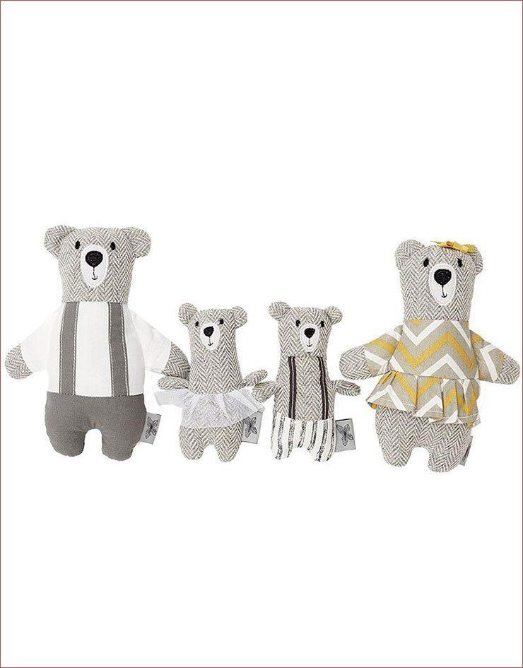 Poupées de chiffon Famille ours