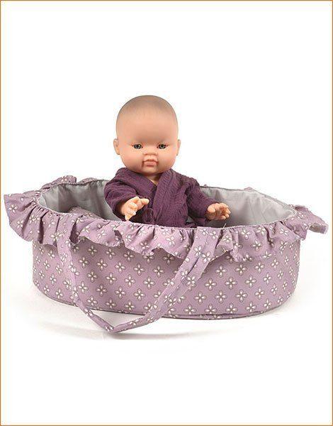 Couffin de 35cm en tissus pour poupées et poupons