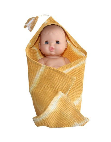 Carré de bain moutarde