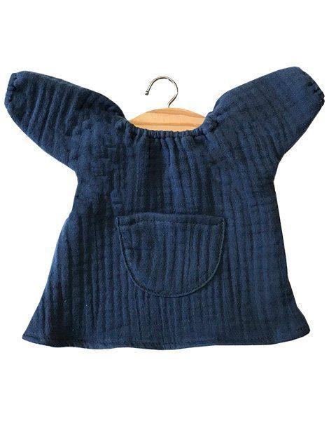 Robe Jeanne en coton double gaze bleu