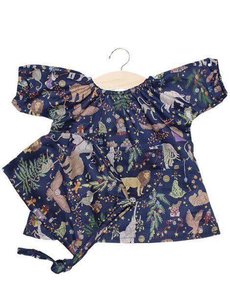 Robe Jeanne en coton Liberty Tana Lawn