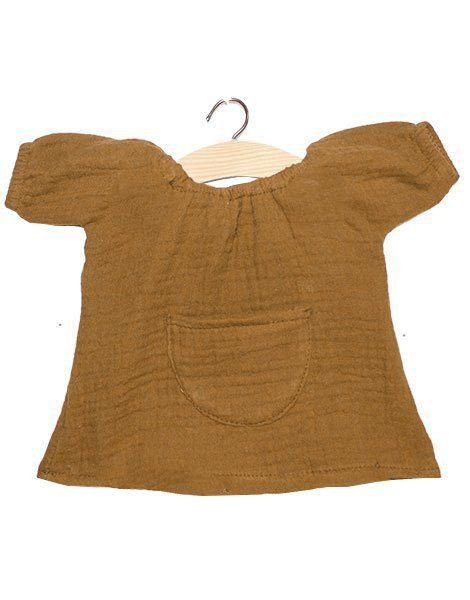Robe Jeanne coton double gaze camel