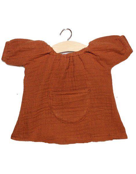 Robe Jeanne en coton double gaze curcuma