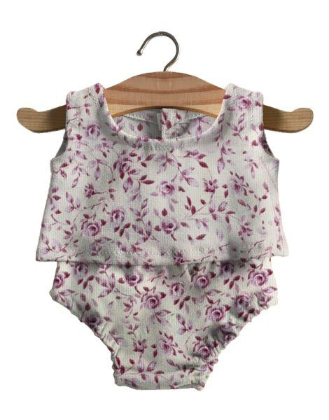 Ensemble Sacha imprimé velours rose