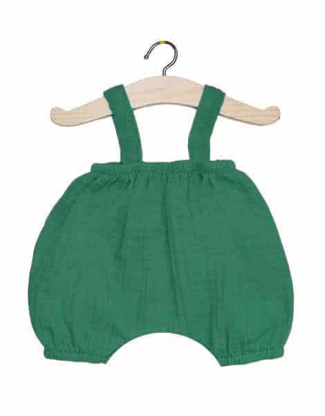 Bloomer Kim en coton double gaze vert