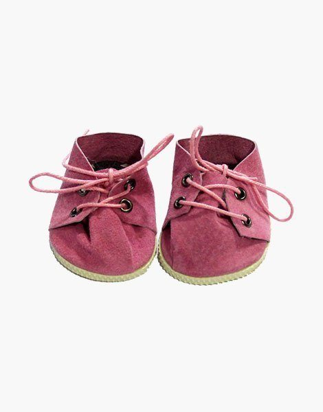Chaussures à lacets en daim rose | Pink suede lace-up shoes