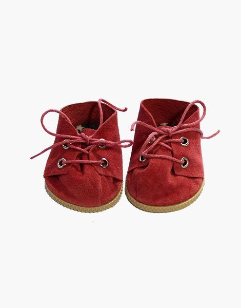 Chaussures à lacets en daim rouge | Red suede lace-up shoes