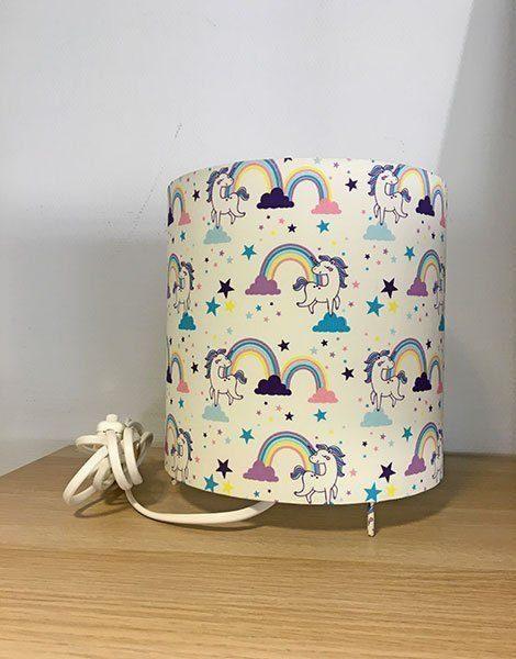 *Lampe de chevet pour chambre d'enfant Grand modèle – Motif Licorne