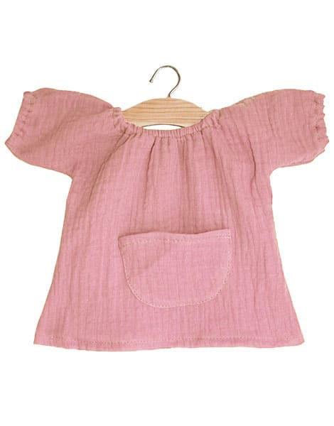 Robe Jeanne en coton triple gaze rose