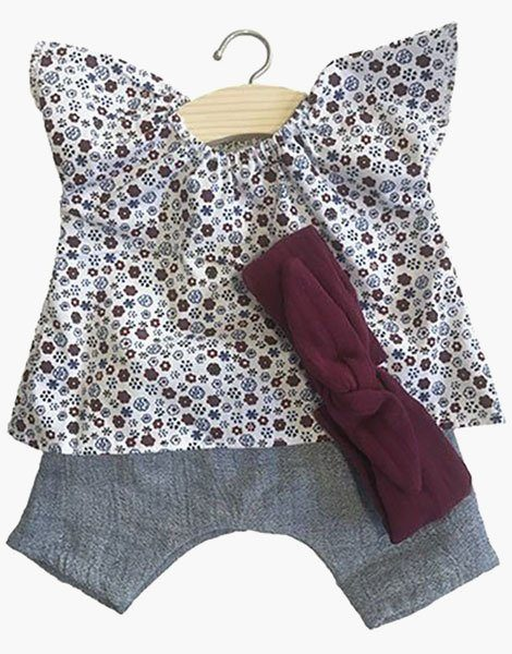 Ensemble Mazarine fantaisie + Headband Bordeaux
