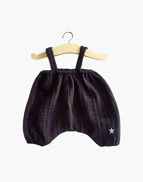 Bloomer Kim en coton double gaze wenge