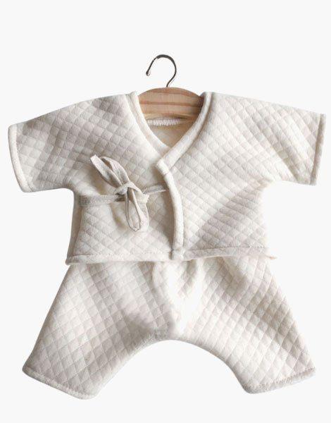 Kimono Niko coton surpiqué écru