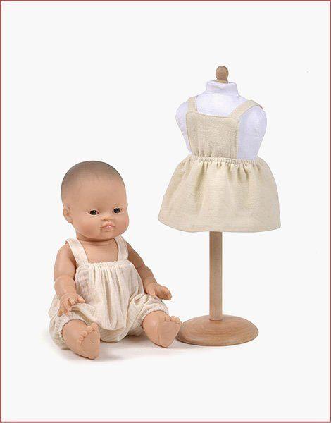 Mannequin poupées en bois 37cm
