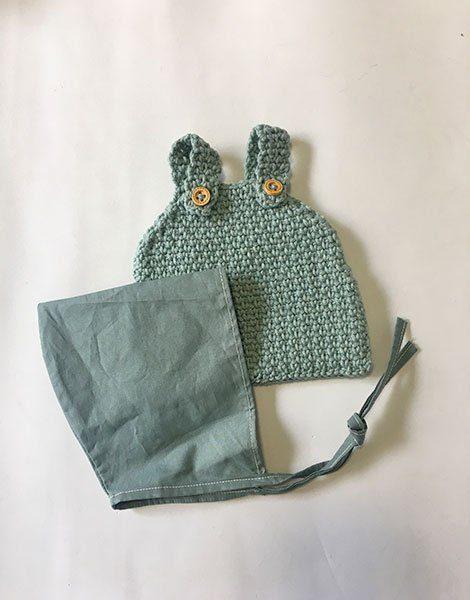 *Bloomer vert de gris / Béguin coton
