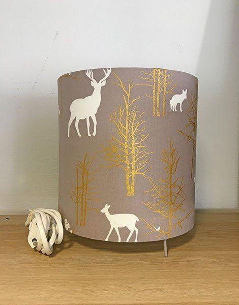 *Lampe de chevet pour chambre d'enfant Grand modèle – Motif Forêt