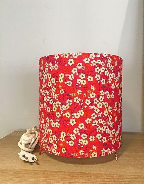 *Lampe de chevet pour chambre d'enfant Grand modèle – Motif Liberty Misti