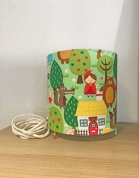 *Lampe de chevet pour chambre d'enfant Grand modèle – Motif Contes d'enfance