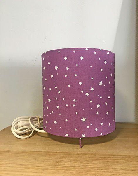 *Lampe de chevet pour chambre d'enfant Grand modèle – Motif Purple star