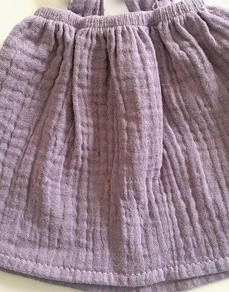 *Robe Mila en coton double gaze Lavande