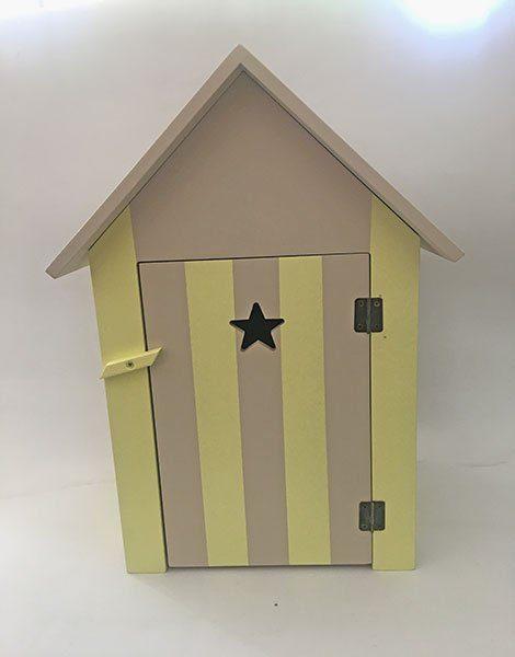 *Cabine de plage en bois pour poupée Gordis (37 x 21 x 17,5)