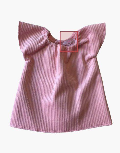 *Robe Augustine en velours rose, pour poupée Gordis (34cm)