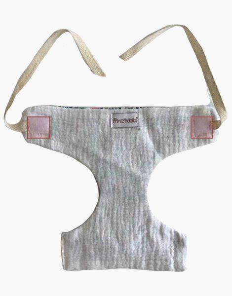 *Couche à nouettes motif fleurs pour poupée Gordis (34 cm)