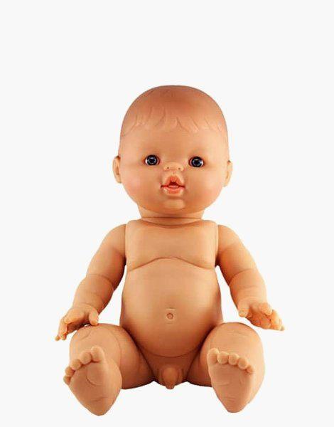 *Petit garçon d'Europe, yeux clairs, poupée Gordis (34 cm)