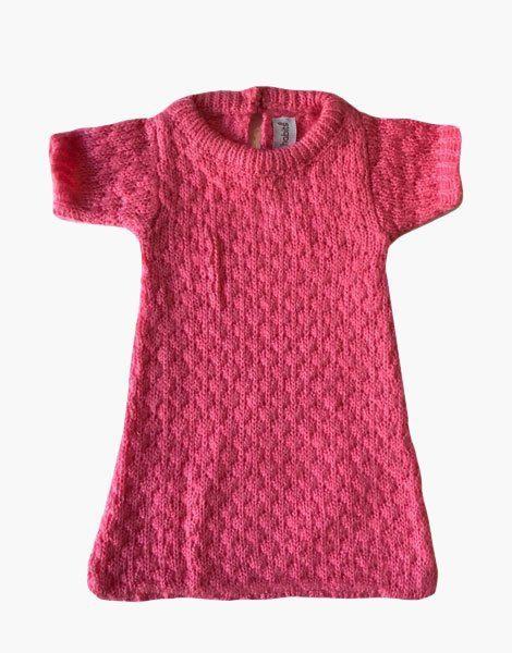*Turbulette en laine, rose fuschia, pour poupées Gordis (34cm)