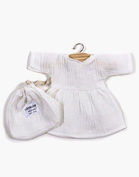 .Robe Faustine coton double gaze Blanc