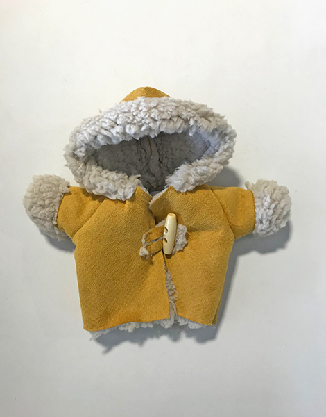 *Manteau À capuche doublé moutarde