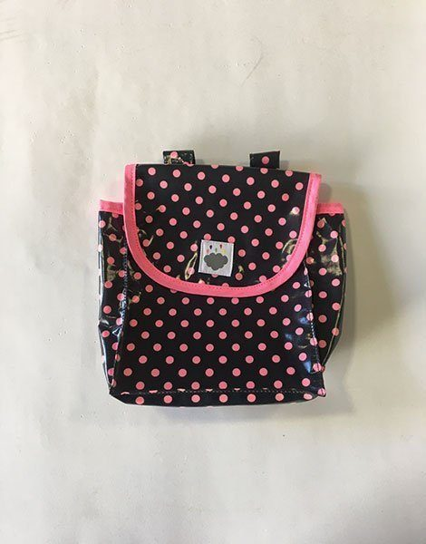 *Sac à guidon dots fluo rose