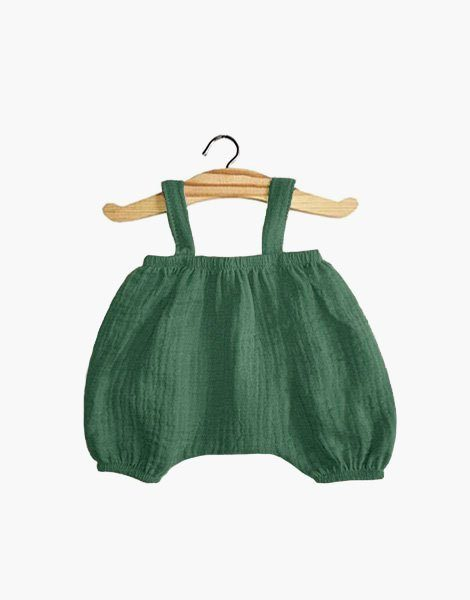Bloomer Kim en coton double gaze vert emeraude