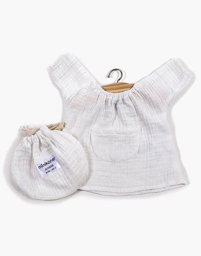 .Robe Jeanne en coton double gaze Blanc