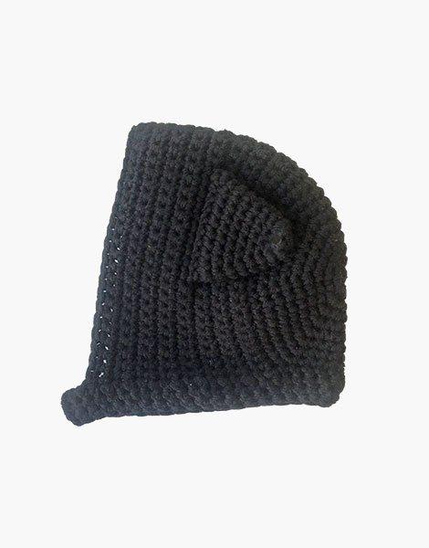 Béguin Chat en crochet Noir
