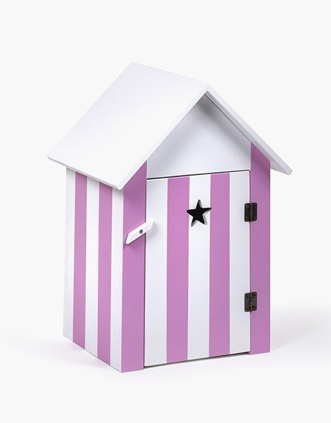 Cabine de bain en bois rose miami beach