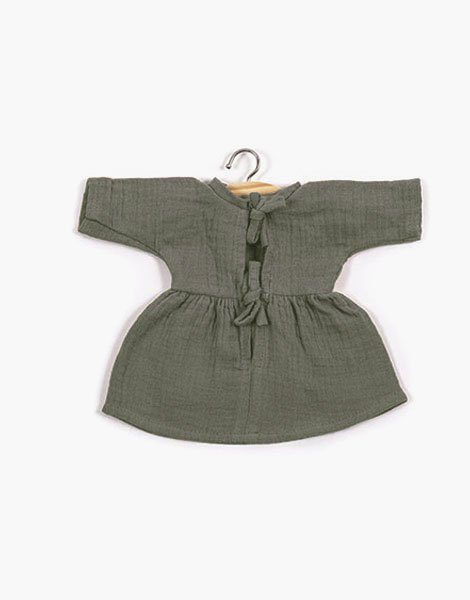 .Robe Faustine coton double gaze Vert olive