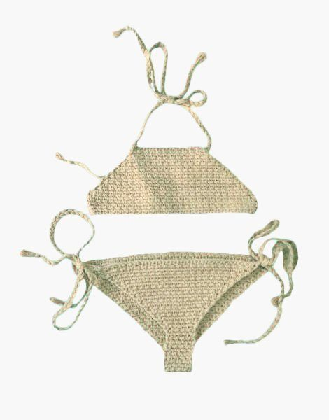 Bikini BB fillette 3/5 ans Écru