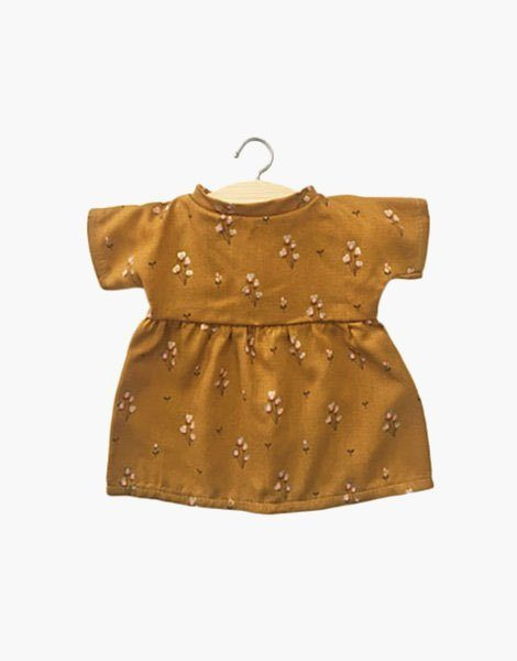 Robe Faustine Javanaise Gold Moutarde