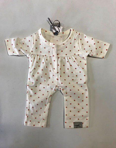 *Pyjama en jersey écru à pois rose pour poupée 35/40cm (trop grand pour les Gordis) by Astrup