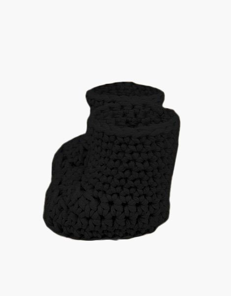 Bottes en crochet noir